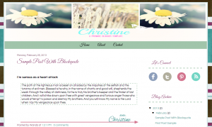 Premade blogger template